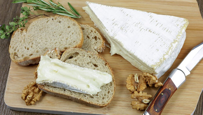 Brie cheese of Paris, France