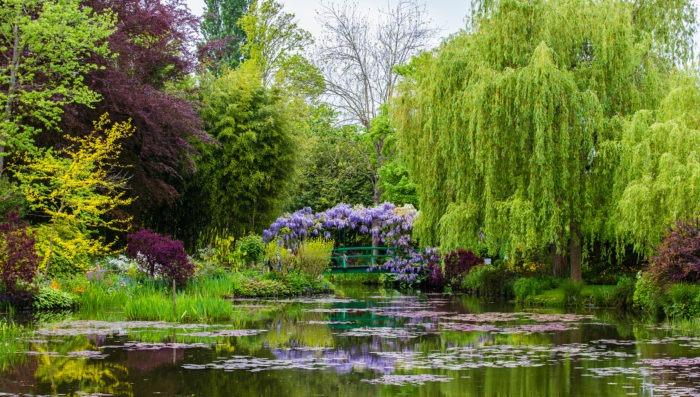 Beautiful garden in Normandy, France