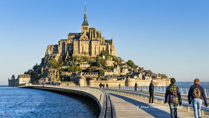 family trip to Mont Saint Michel Normandy France