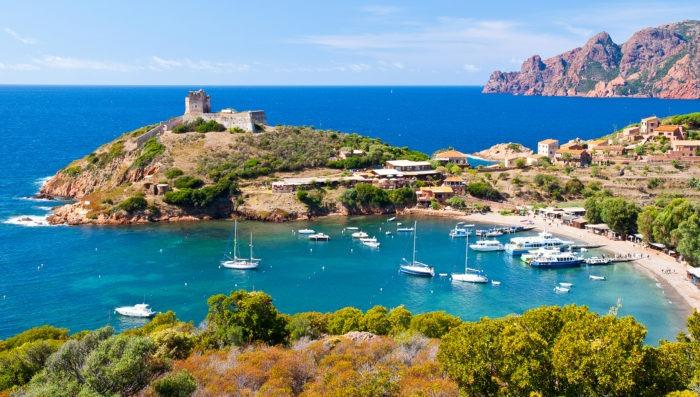 Scandola Nature reserve in Corsica, France