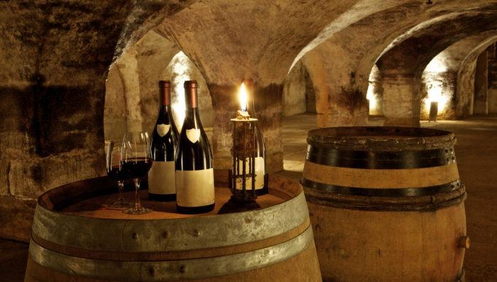 bottles of wine in Burgundy, france