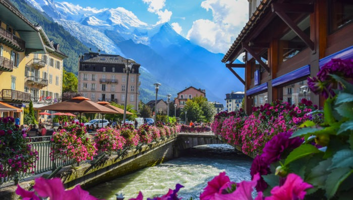 chamonix in the summer, french alpes