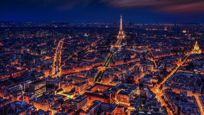 paris lights at night