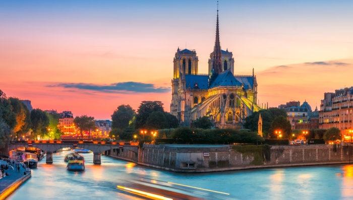 Paris view of Seine