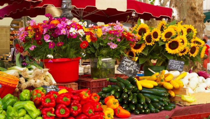 market in Provence, France