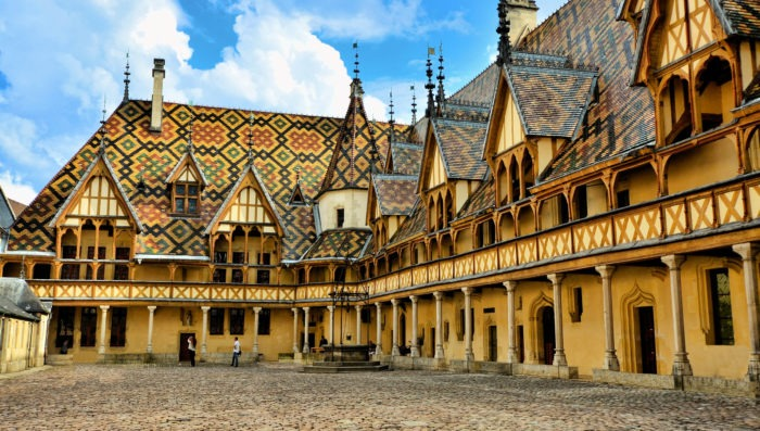 Architecture in Beaune, france