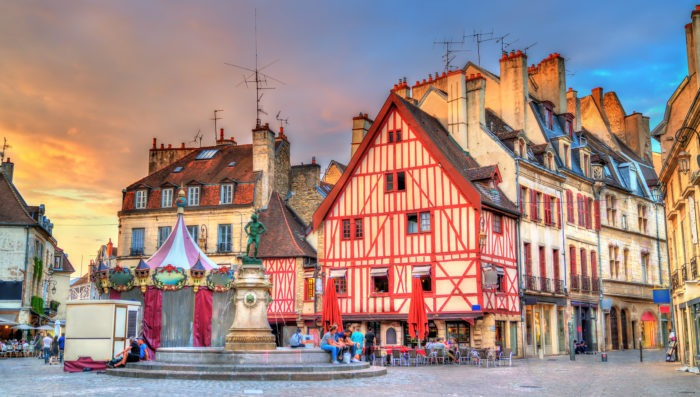 dijon town and architecture in france