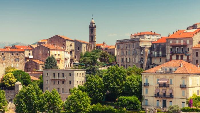 Sartène town in Corsica France