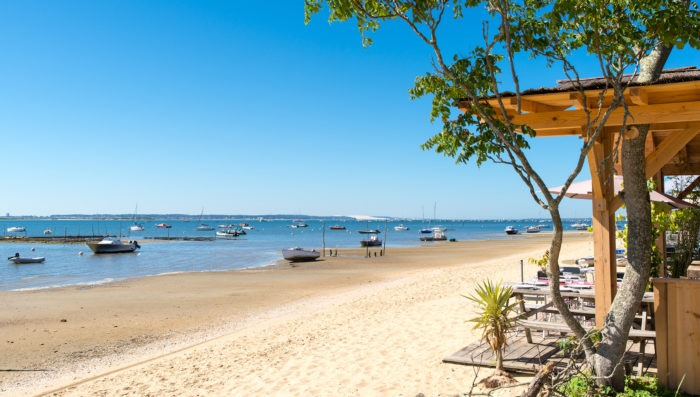 beach in arcachon, france