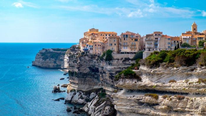 Beach and landscape un Bonifacio Corsica