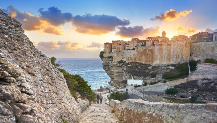 Street view of Bonifacio, Corsica