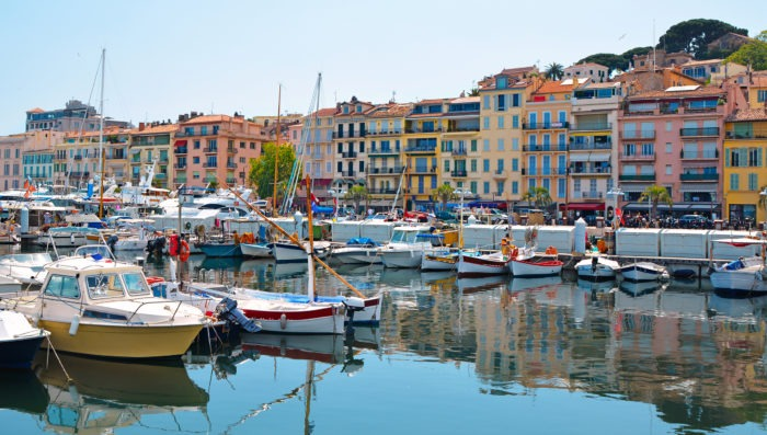 Cannes and its port, city in France