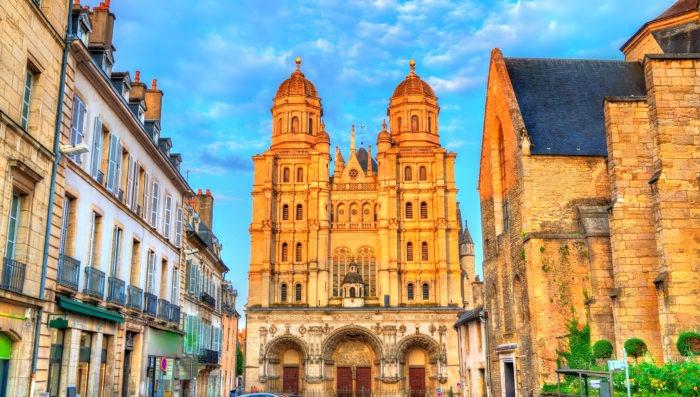 dijon's church at day, france