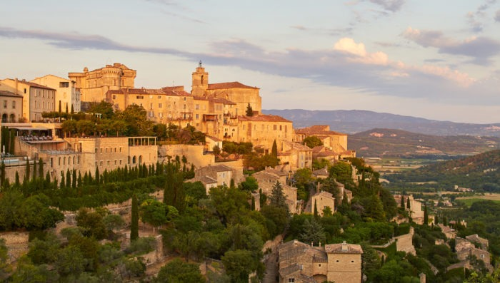 Luberon Gordes town in Southern France