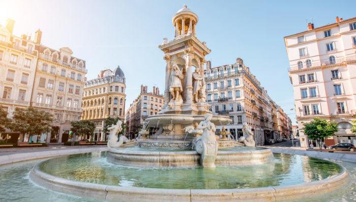 fountain at Lyon, France