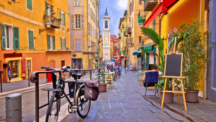 Street view in Nice, France