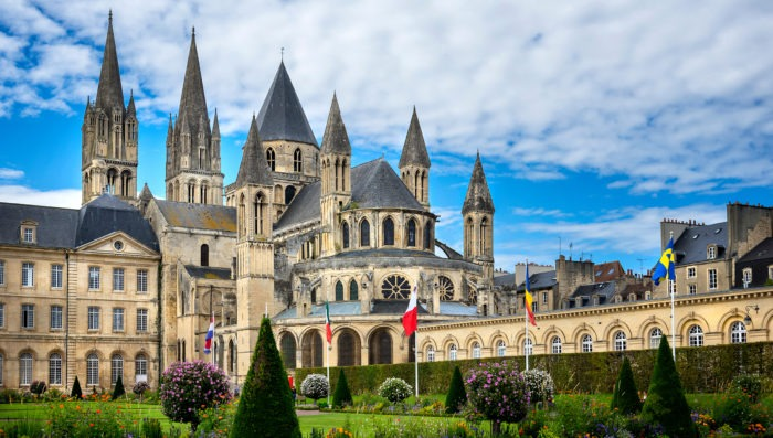 Reims' beautiful castle in France