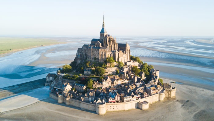 Mont Saint Michel air view