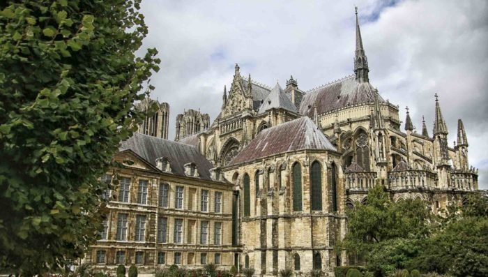 photo of the cathedral of reims in champagne france