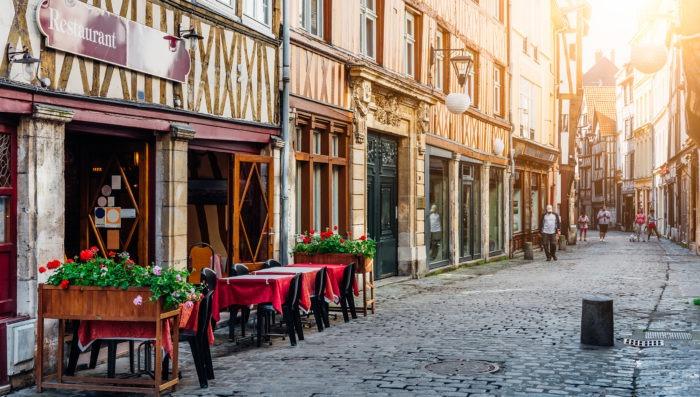 Street in Rouen, Normandie France
