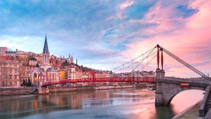 Lyon city in France