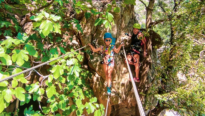 canopy climbing in course