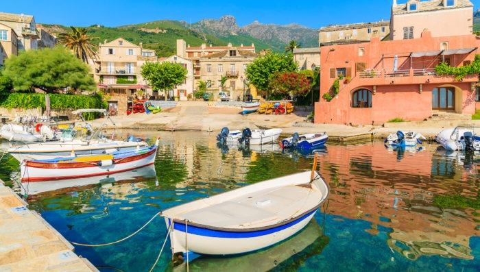 Boats in Ajaccio Corsica