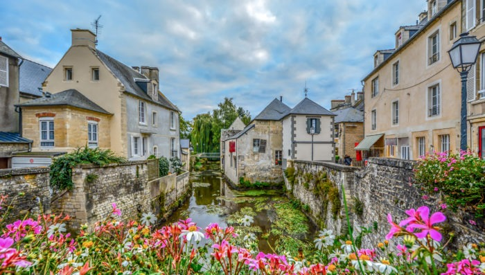 Street view of Bayeux, France