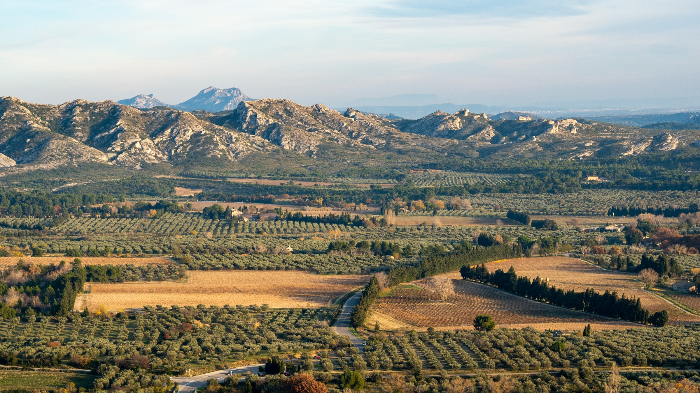 alpilles panorama from Baux-de-Provence