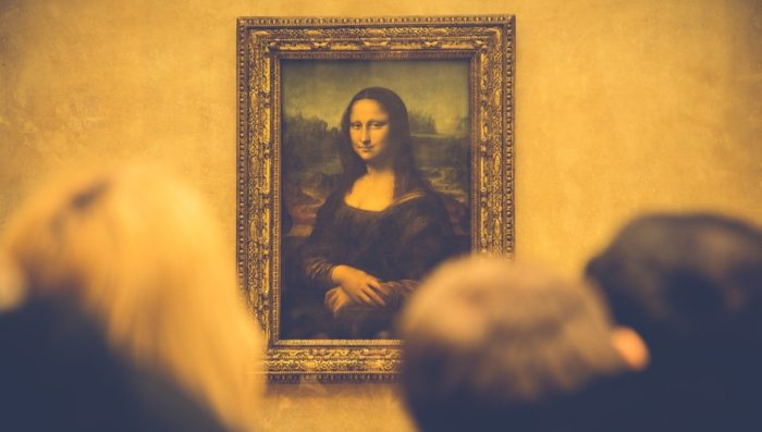 Mona Lisa painting in Louvre Museum