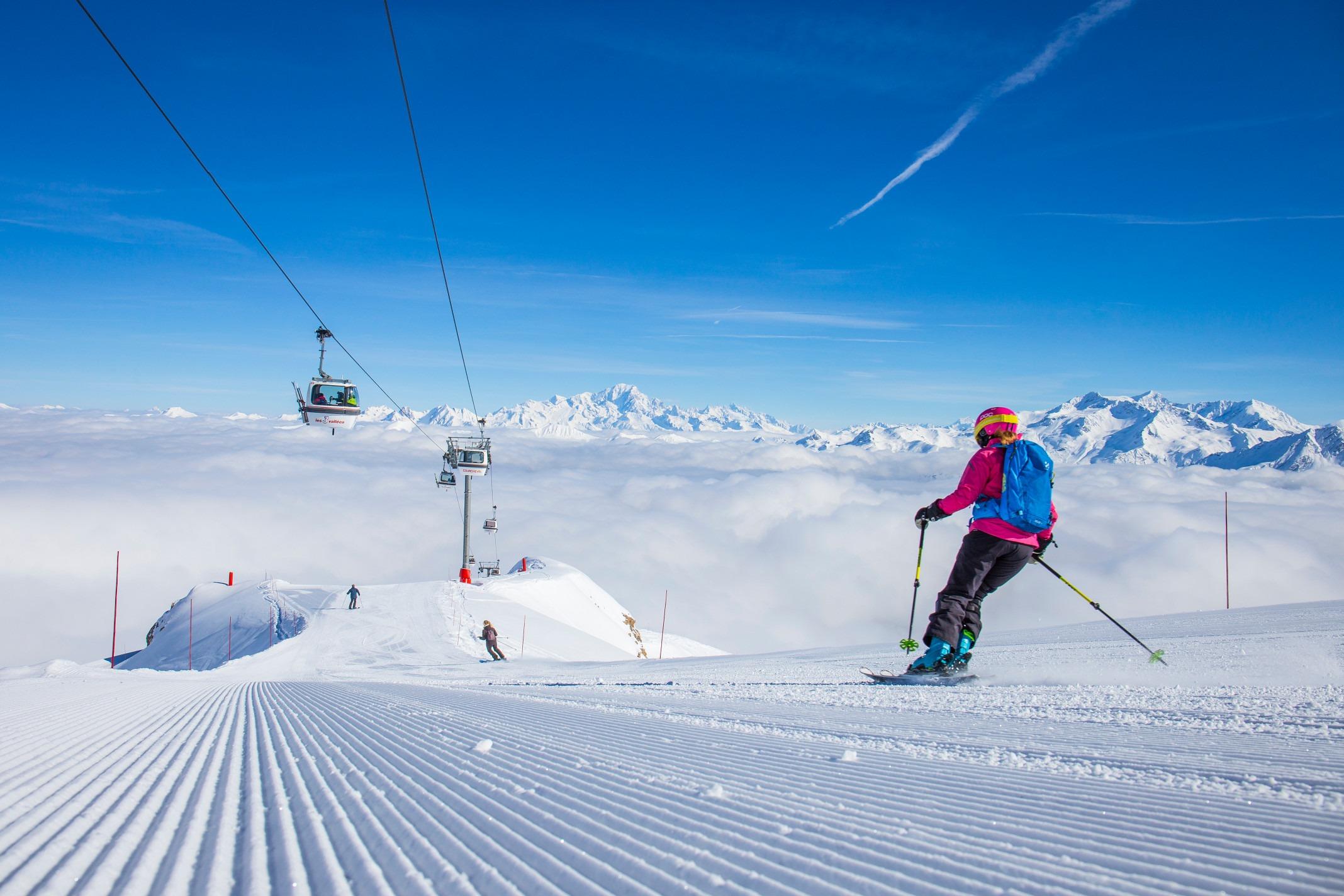 french winter ski guide courchevel slopes