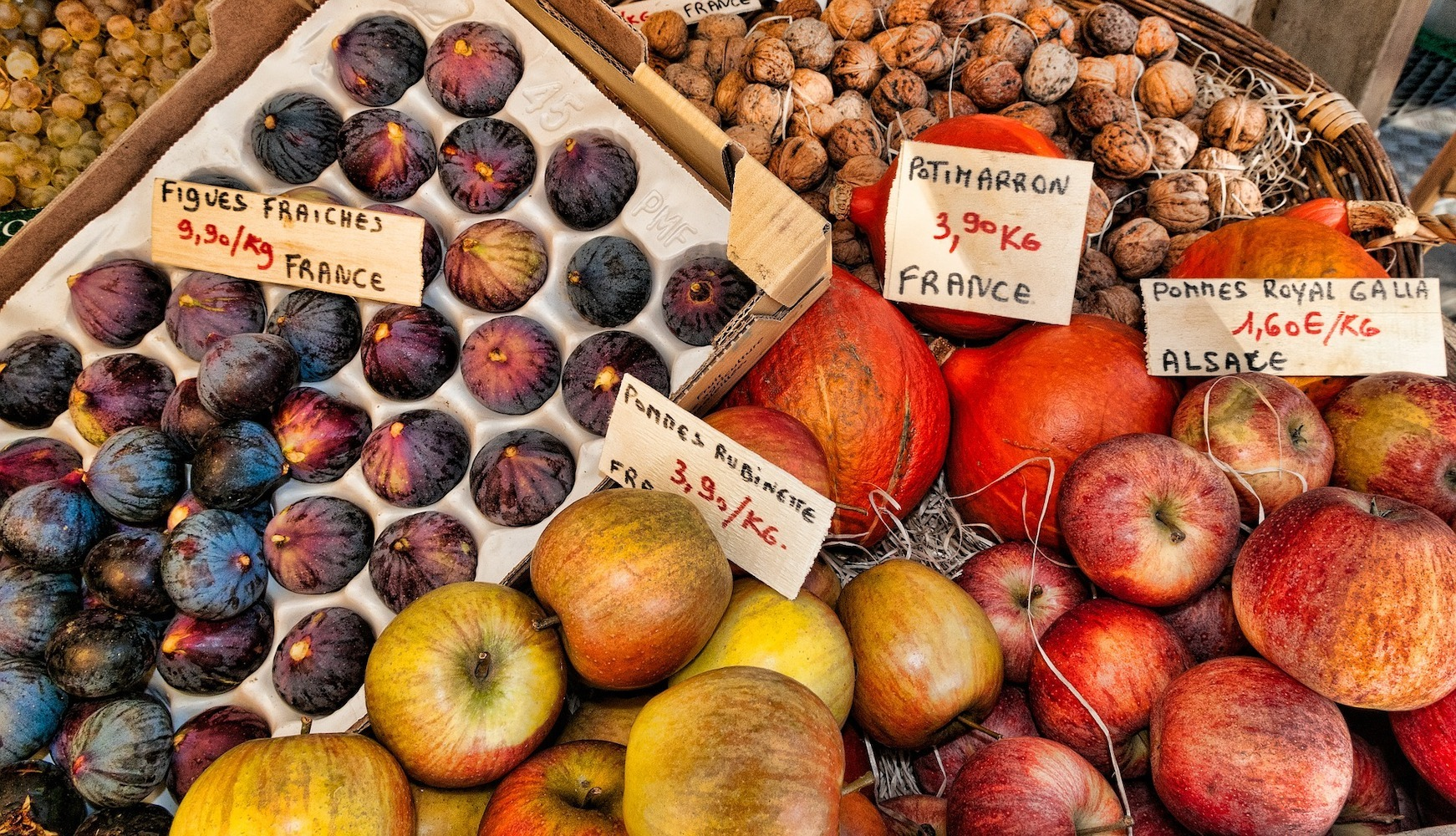 fall market foods france